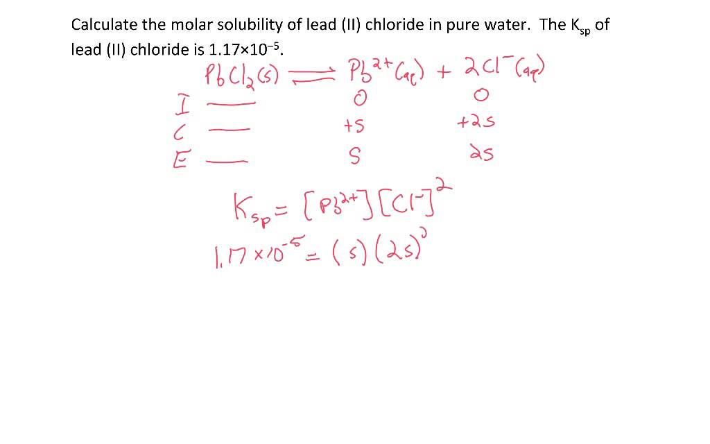 determining the ksp K sp but only for salts that have the same ion:ion ratio solubility changes with temperature  when determining relative solubility's for salts the equilibrium.