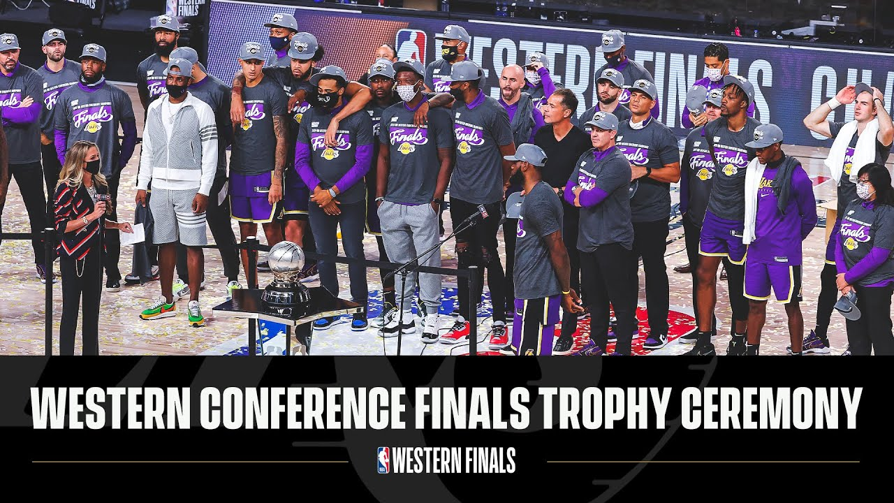 Western Conference Finals Trophy Ceremony