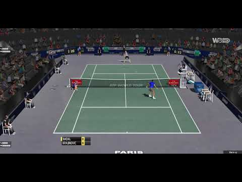 [ HD ] Rafael Nadal vs Filip Krajinovic Practice Court | Paris Master 2017 - 3D Animation