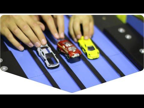 DIY: 5 lane race track for toy cars | Пятиполосный трек для машинок 64 масштаба
