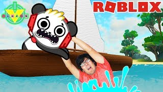RYAN'S DADDY SAILING E CAMPING IN ROBLOX CON COMBO PANDA LET'S PLAY!