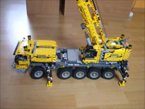 lego technic mobiler schwerlastkran 42009 mit led. Black Bedroom Furniture Sets. Home Design Ideas