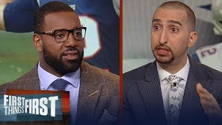 Chris Canty says the Patriots are the best in the AFC — Nick disagrees | NFL | FIRST THINGS FIRST