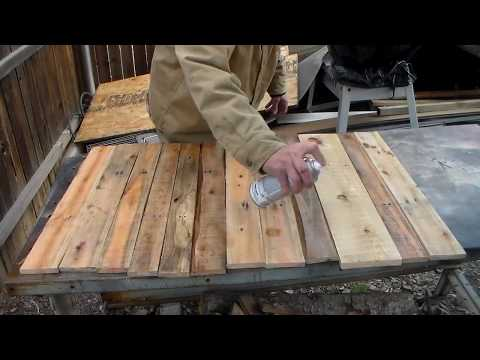 How I pallet  walls in my Rustic wood shop.