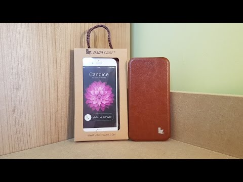 Review of the Jisoncase Vintage PU Leather Magnetic Flip Case for Apple iPhone 6 6S Brown