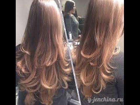 Красивая градуировка на длинных волосах! СТРИЖКА ДЛИННЫХ ВОЛОС