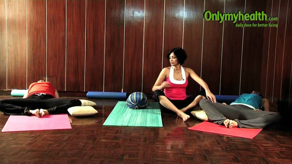 Lying Down Butterfly Pose Yoga For Stress Relief