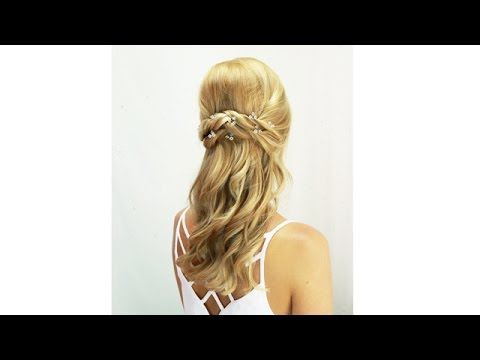Wedding hair video - half up