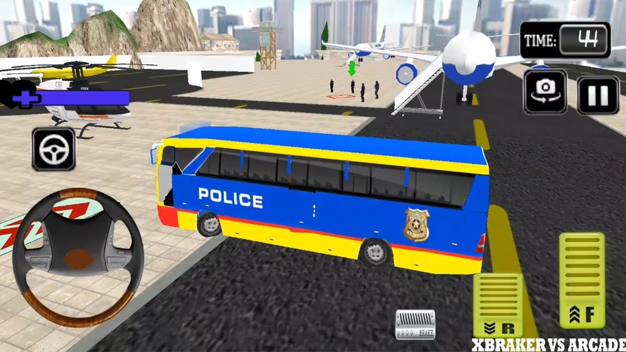 Police Bus Prisoner Transport Airplane Simulator 2018 - Android GamePlay HD