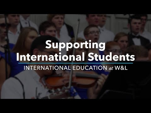 Supporting International Students (International Education at W&L)