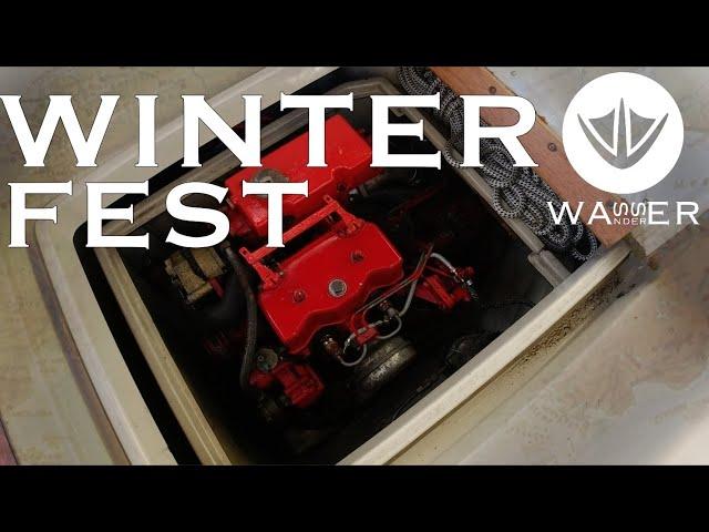 Winterfest - wir Kranen aus und wintern den Motor ein [Wasserwanderer.de]