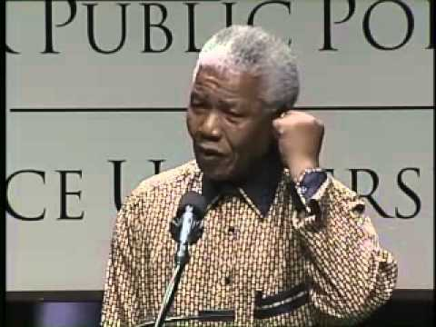 Nelson Mandela, Former President of South Africa and Nobel Peace Prize Winner