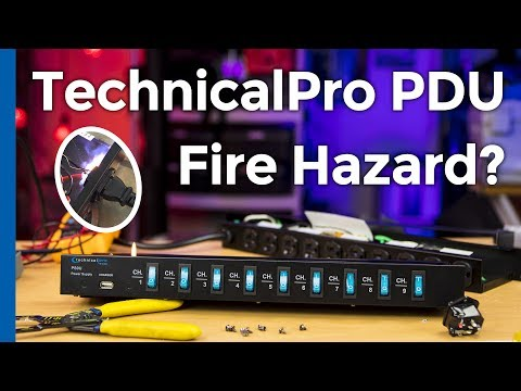 Technical Pro PS9U vs. Cyberpower CPS-1220RMS PDU (And One is a Fire Hazard)  [C39FD0152]