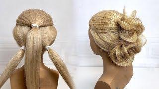Вечерняя прическа на длинные и средние волосы Красивые прически пошагово