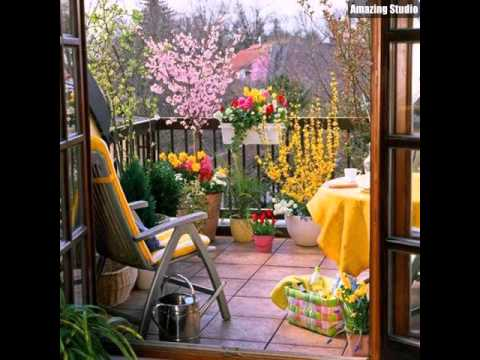 kleiner balkon garden design youtube. Black Bedroom Furniture Sets. Home Design Ideas