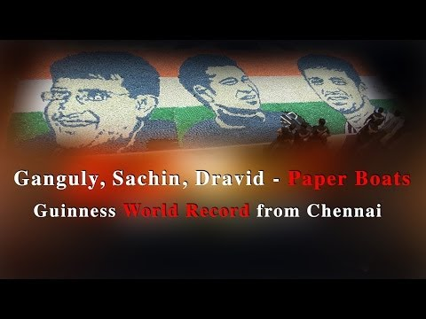 Ganguly, Sachin, Dravid &Paper Boats -- A Guinness World Record from Chennai - Redpix 24x7 #SACHIN  #DRAVID #GANGULY # GuinnessWorldRecordChennai #GuinnessWorldRecord #paperboat   A group of students from chennai attempted a guinness world record of