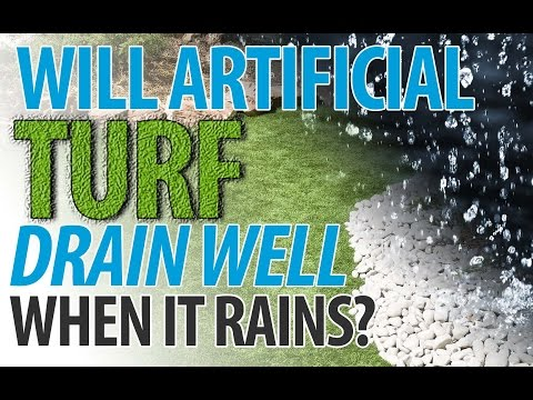 How Well Will Artificial Turf Drain When it Rains? (I.C.E. Chats)