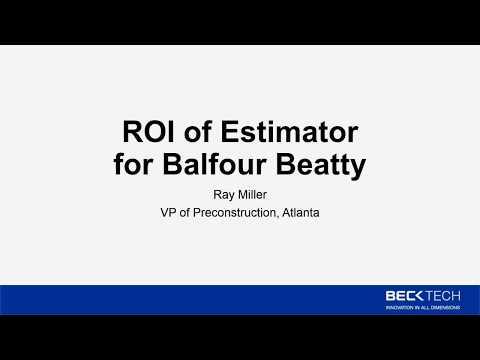 ROI of Estimator for Balfour Beatty