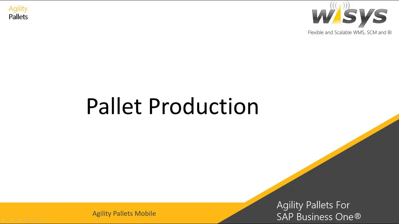 Pallet & Container Management for SAP Business One