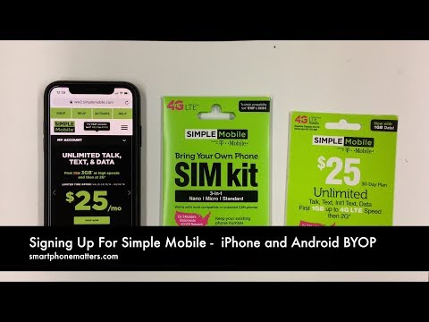 Signing Up For Simple Mobile with iPhone and Android