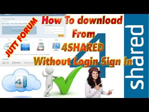 How To Download From 4Shared Without Login Sign In Upload  Amran Chaudhary