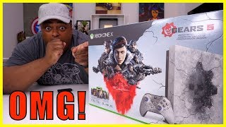 Xbox One X Gears 5 Limited Edition Bundle UNBOXING!