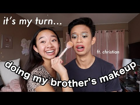 DOING MY BROTHER'S MAKEUP | Nicole Laeno