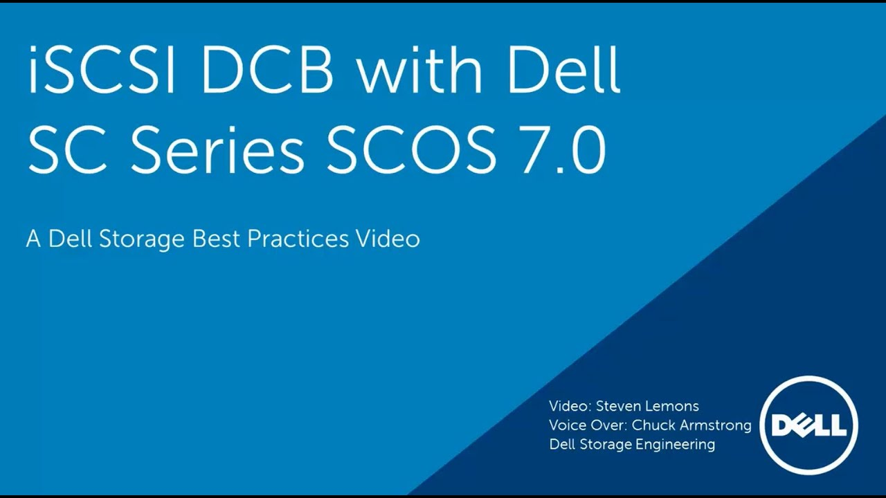 iSCSI DCB with Dell SC Series Arrays using Storage Center OS