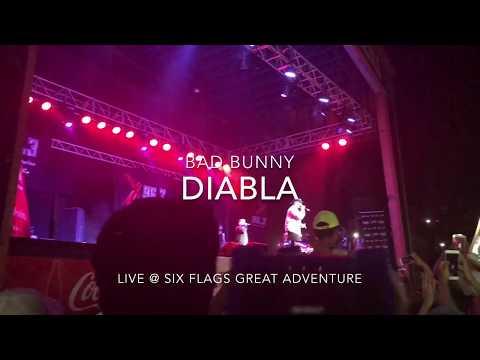 Bad Bunny - Diabla || LIVE @ Six Flags Great Adventure HD