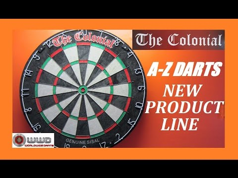 A-Z Darts Releases New Colonial Product Line - Dart Board & Darts
