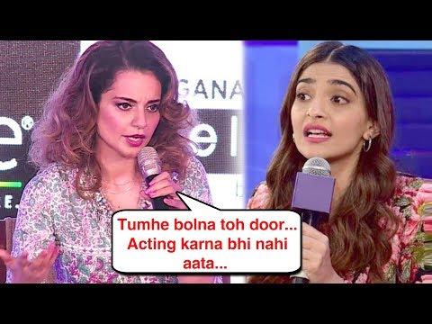 Kangana Ranaut ANGRY On Sonam Kapoor, TAUNTS Her Acting and Talking Skills