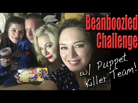 Beanboozled Challenge with the Puppet Killer Team | Scream Queen Stream