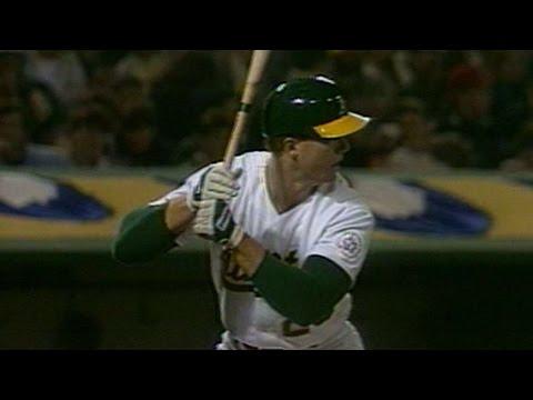 CAL@OAK: McGwire hits first home run of 1987 season