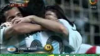 resumen y goles de argentina per 4 0 copa amrica