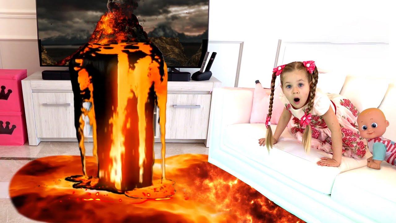 Diana and Roma Floor is Lava Secret Message Adventure