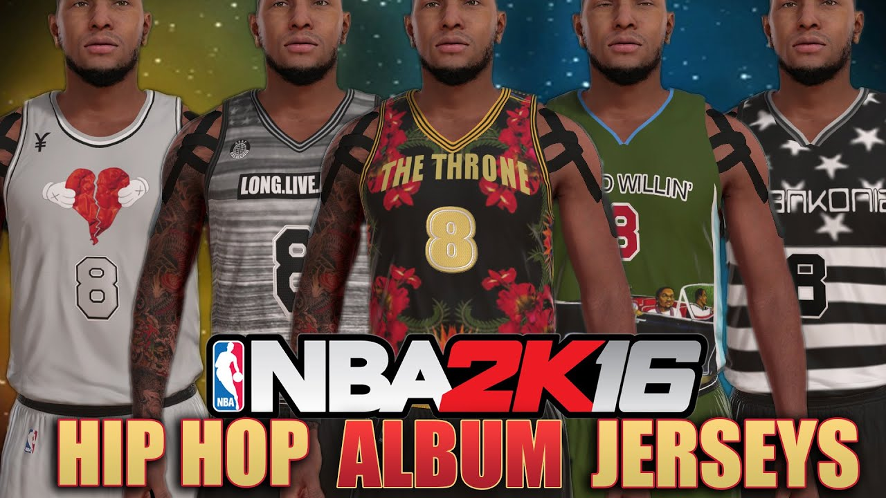 77106eb403f NBA 2K16 Jersey Creation: Hip Hop Album Jerseys ft. Outkast, Kanye, Jay-Z  and More!