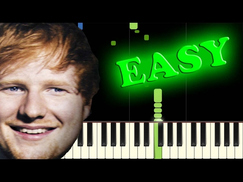 ED SHEERAN - GIVE ME LOVE - Easy Piano Tutorial