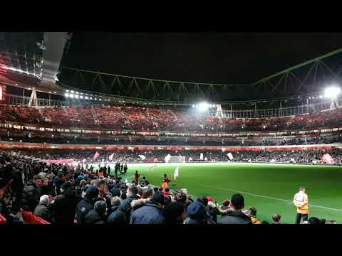 Arsenal v Chelsea lights display before game