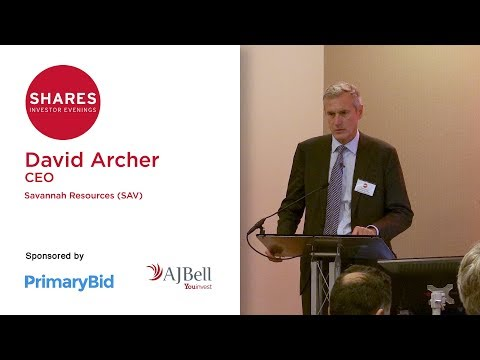 David Archer, CEO of Savannah Resources (SAV)