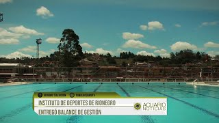 Instituto de deportes de Rionegro entregó balance de gestión