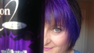 Review 'Ultra Indigo' by Ion. On a mission for a lasting purple lavender hair colour.
