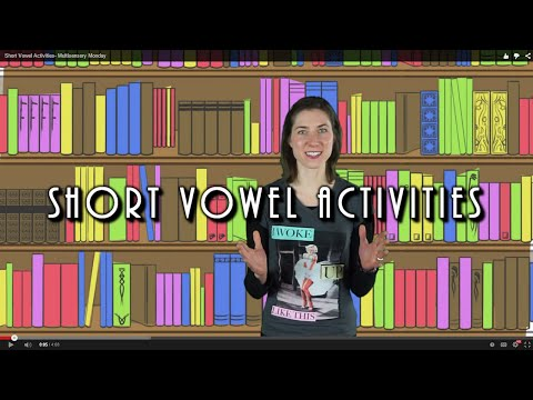 Short Vowel Activities- Multisensory Monday