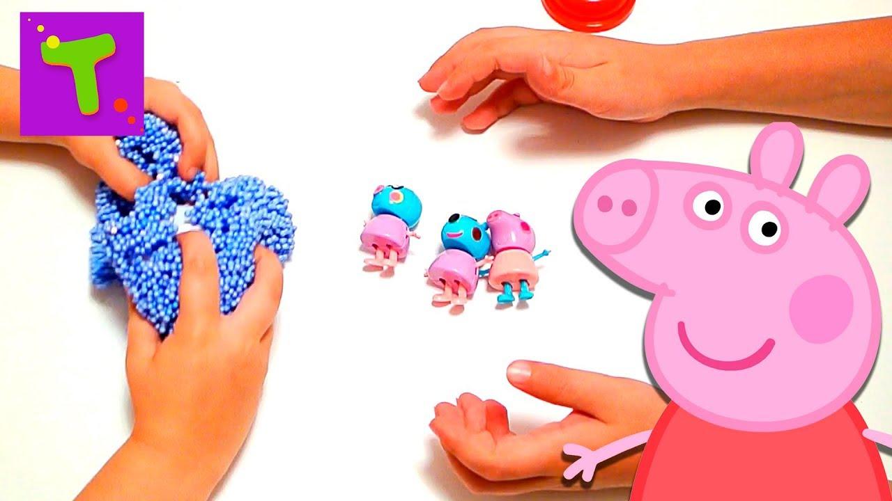 Свинка пеппа из шарикового пластилина Свинка пеппа ...
