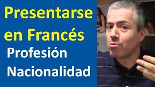 la presentación en francés presentarse conversación curso de francés básico clase 4 francés