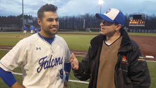 CUW Baseball Postgame Interview with Charlie Rodriguez (April 22, 2019)