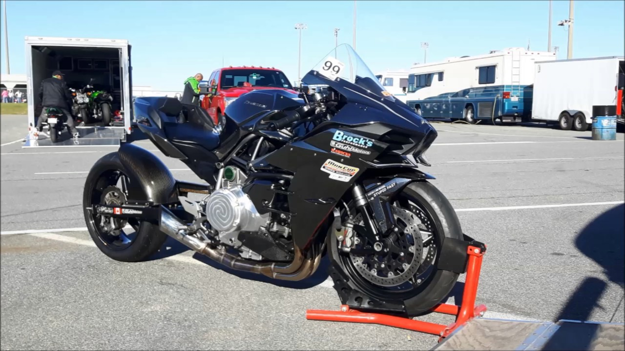 Worlds Fastest Stock Motor Kawasaki Ninja H2 - 8.1 at 176mph - April