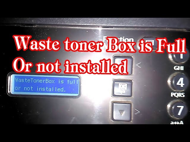 KYOCERA Taskalfa 1800 waste toner box is full or not installed