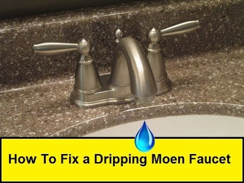 how to fix a dripping moen faucet howtolou com