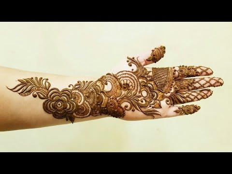 New Arabic Mehndi Design For Hands 1 Youtube