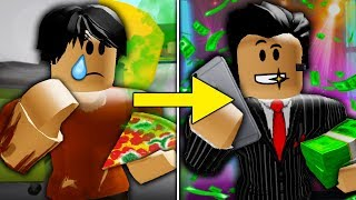POOR TO RICH PART 5: THE MEAN MANAGER GOES TO JAIL ( A Sad Roblox Bloxburg Movie)